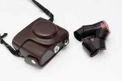 Stara kamera i puste miejsce film w rolce Obrazy Royalty Free