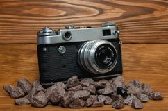 Stara kamera na 35mm filmu zdjęcie royalty free