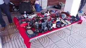 Stara kamery wyposażenia sprzedaż fotografia royalty free