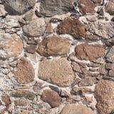 Stara kamienna ściana jako abstrakcjonistyczny tło Obrazy Stock