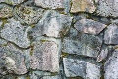 Stara kamienna ściana, rocznika architektoniczny tło Obrazy Royalty Free