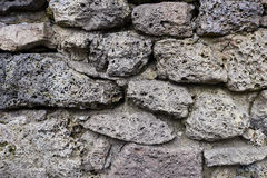 Stara kamienna ściana stara cegły tekstura Blokowa tekstura Obraz Royalty Free