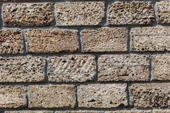 Stara Kamienna ściana, tekstura, tło. Zdjęcie Stock