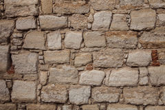 Stara Kamienna ściana, tekstura, tło. Zdjęcia Stock
