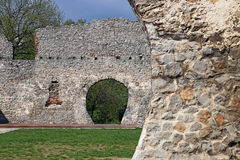 Stara kamienna ściana rujnuje Tettye Pecs Obraz Stock