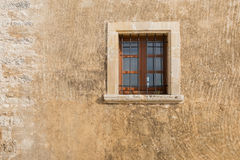 Stara kamienna ściana z okno Fotografia Stock