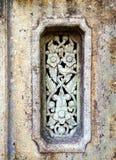 Stara kamienna cyzelowanie ściana Zdjęcia Royalty Free