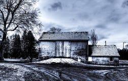 Stara kamienna stajnia w samiec okręgu administracyjnym, usa Zdjęcie Royalty Free