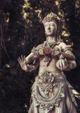 Stara kamienna statua bali Indonesia Obraz Stock
