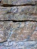 Stara kamienna tło tekstura Jama ścienny ośniedziały wzór drapający Obrazy Stock