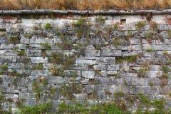 Stara kamiennej ściany teksturaantyczna świątynia obraz stock
