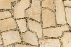 Stara kamiennej ściany tekstura lub tło Obrazy Royalty Free