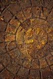 Stara kanalizacyjna manhole tekstura Zdjęcie Stock