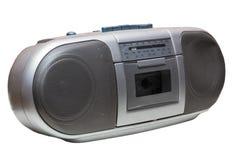 Stara kaseta Boombox odizolowywający na bielu fotografia royalty free