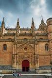 Stara katedra, Catedral Vieja w Salamanca, Castilla y Leon, Hiszpania - UNESCO światowego dziedzictwa miejsce obrazy royalty free