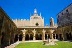 Stara katedra Velha lub Se Coimbra, Portugalia Zdjęcia Royalty Free