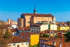 Stara katedra w centrum izolujący miasto Cittadella Fotografia Royalty Free