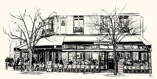 Stara kawiarnia w Paryż ilustracja wektor