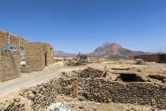 Stara Kharanagh wioska w Yazd, Iran Obraz Stock
