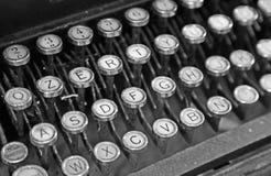 Stara klawiatura stary maszyna do pisania 40s royalty ilustracja