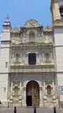 Stara kościół przodu twarz w Mexico szesnaście wieku obrazy stock