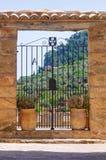 Stara kościelna brama w Mallorca, Hiszpania Fotografia Stock