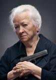 Stara kobieta Zdjęcia Royalty Free