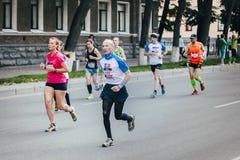 Stara kobieta biegacz współzawodniczy Obraz Stock