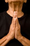 stara kobieta modlitwa Zdjęcia Stock