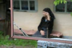 stara kobieta refleksji Obraz Stock