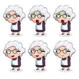 Stara kobieta w wiele akcjach Zdjęcie Royalty Free