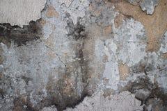 Stara kolonista ściana w Azja z brakującym stiukiem, wybitny czerń m obraz royalty free