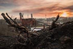 Stara kopalnia węgla Zdjęcia Royalty Free