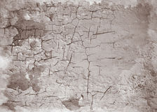 Stara krakingowa ściana Abstrakcjonistyczny projekt Zdjęcia Royalty Free
