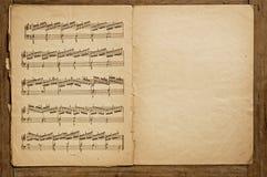 stara książka muzyki. Zdjęcie Royalty Free