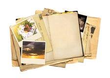 Stara książka, rocznik pocztówka i fotografie, Zdjęcia Royalty Free