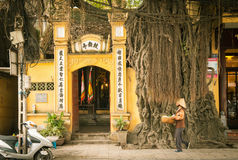 Stara Kwartalna ulica, Hanoi Obraz Royalty Free