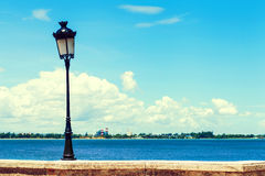 Stara lampa w San Juan zdjęcia stock