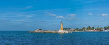Stara latarni morskiej panorama Zdjęcia Stock