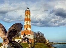 Stara latarnia morska w Bułgaria, Shabla Zdjęcia Royalty Free