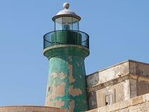 Stara latarnia morska w Ortigia fotografia stock