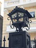 Stara latarnia uliczna z klasycznym stylem, rocznik latarnia uliczna, starej mody dekoracyjna drogowa lampa obraz stock