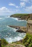 Stara lifeboat stacja przy jaszczurka punktem w jaszczurka półwysepie, Cornwall, UK Fotografia Stock