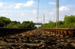 stara linia kolejowa Obrazy Stock