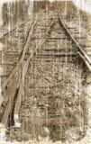stara linia kolejowa Zdjęcia Royalty Free