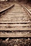 stara linia kolejowa Zdjęcie Stock