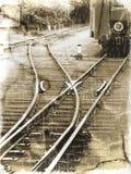 stara linia kolejowa Obraz Royalty Free
