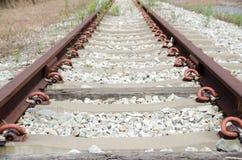 Stara linia kolejowa, rocznika pociągu ślad Fotografia Stock