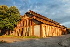 Stara Livnica, gammal fabriksKnezev arsenal i Kragujevac, Serbien Underbar byggnad Arkivfoto