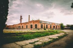 Stara Livnica, old factory Knezev Arsenal in Kragujevac, Serbia. Wonderful building. Stara Livnica, old Abandoned factory Knezev Prince's Arsenal in Kragujevac Stock Image